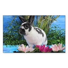 Buttercup Bunny on Lily Pads-2 Decal