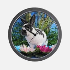 Buttercup Bunny on Lily Pads-2 Wall Clock
