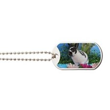 Buttercup Bunny on Lily Pads-2 Dog Tags