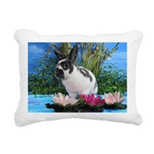Buttercup Bunny on Lily  Rectangular Canvas Pillow