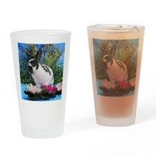 Buttercup Bunny on Lily Pads-2 Drinking Glass
