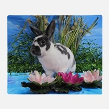 Buttercup Bunny on Lily Pads-2 Throw Blanket