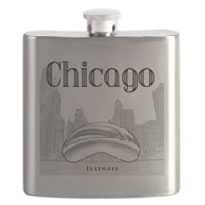 Chicago_10x10_ChicagoBeanSkylineV1_Black Flask