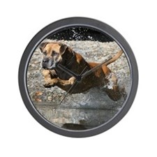 Damien Leaping Wall Clock