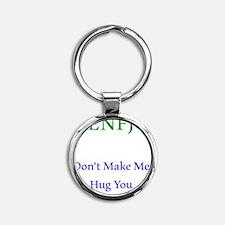 ENFJ Hug Round Keychain