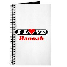 I Love Hannah Journal
