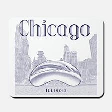 Chicago_10x10_ChicagoBeanSkylineV1_Blue Mousepad