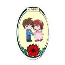 Cute couple, All the best Oval Car Magnet
