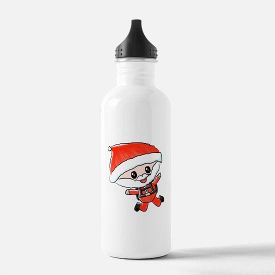 Skydiving Santa Water Bottle