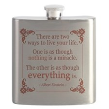 Einstein on Miracles Flask