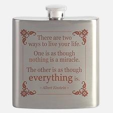 Einstein on Miracles Flask