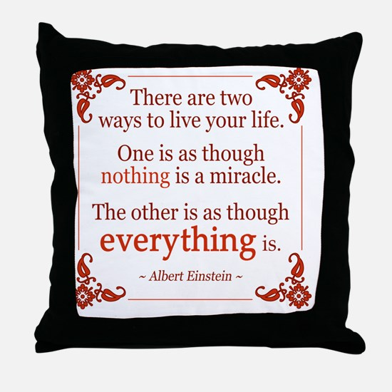 Einstein on Miracles Throw Pillow