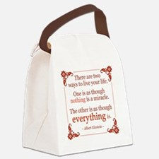 Einstein on Miracles Canvas Lunch Bag