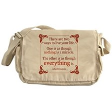 Einstein on Miracles Messenger Bag