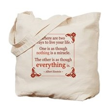 Einstein on Miracles Tote Bag