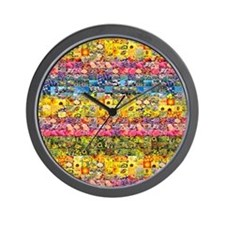 Spring Flower Patch... Wall Clock