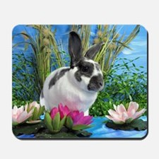 Buttercup Bunny on Lily Pads-1 Mousepad