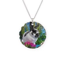 Buttercup Bunny on Lily Pads Necklace