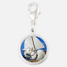 Kirby and Dexter Sailing Silver Round Charm