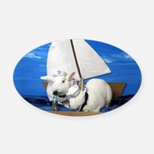 Kirby and Dexter Sailing Oval Car Magnet