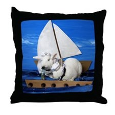 Kirby and Dexter Sailing Throw Pillow