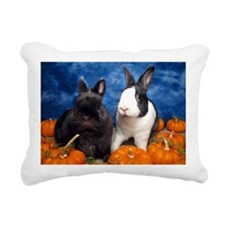 Tiny Tim and Dixie in Pu Rectangular Canvas Pillow