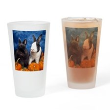Tiny Tim and Dixie in Pumpkin Patch Drinking Glass