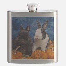 Tiny Tim and Dixie in Pumpkin Patch Flask