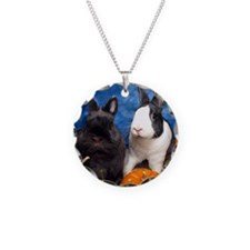 Tiny Tim and Dixie in Pumpki Necklace