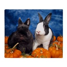 Tiny Tim and Dixie in Pumpkin Patch Throw Blanket