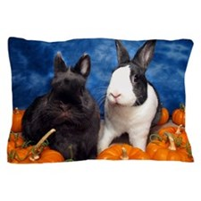 Tiny Tim and Dixie in Pumpkin Patch Pillow Case