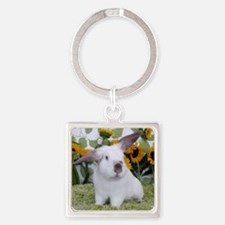 Presto with Sunflowers-2 Square Keychain