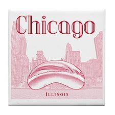 Chicago_10x10_ChicagoBeanSkylineV1_Re Tile Coaster