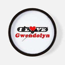 I Love Gwendolyn Wall Clock