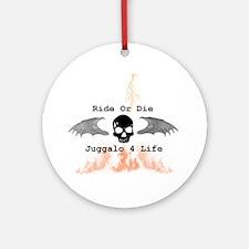Ride or Die Round Ornament