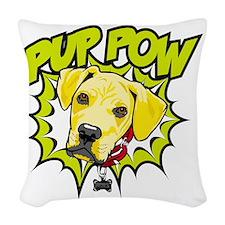 Pup Pow Woven Throw Pillow
