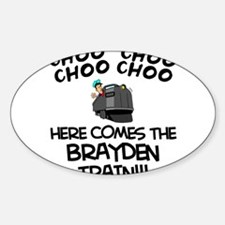 Brayden Train Oval Decal