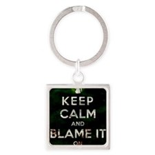 Blame the lag Square Keychain