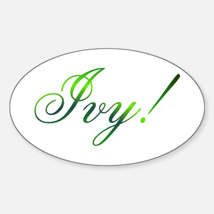 Ivy! Design #1 Oval Decal