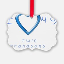 I love my twin grandsons Ornament
