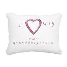 I love my twin granddaug Rectangular Canvas Pillow