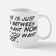 Discipline is just choosing between wha Mug