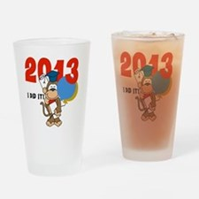 Monkey Graduation 2013 Drinking Glass