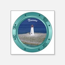 "Nassau Porthole Square Sticker 3"" x 3"""