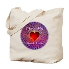 I Love My Heart Throb Tote Bag