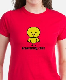 Armwrestling Chick Tee