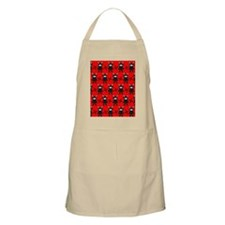 Red and Black Ninja Bunny Pattern Apron