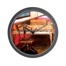 Federal Style Piano and chair Wall Clock