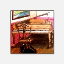 "Federal Style Piano and cha Square Sticker 3"" x 3"""