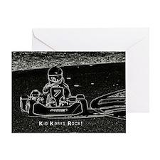 Kid Karts Rock Greeting Card